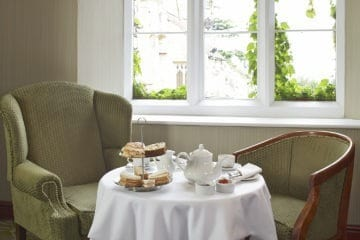 Traditional afternoon tea at The Abbey, Great Malvern