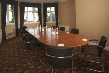 Boardroom meeting in the Montgomery Suite at the Abbey Hotel