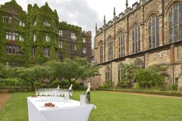 The Abbey Hotel's manicured gardens