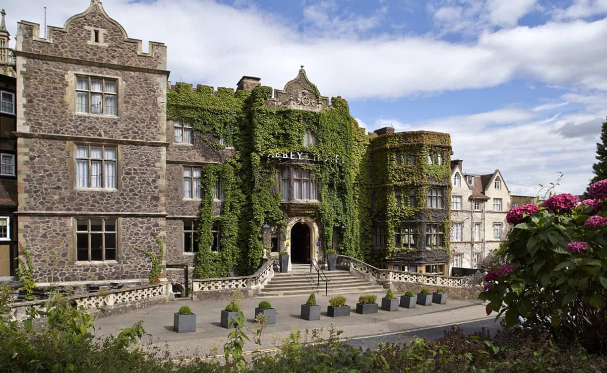 Exterior of the Abbey Hotel in Great Malvern